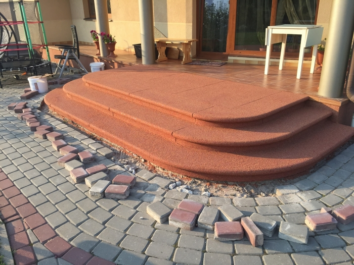 Entrance steps of a private house in Salaspils   [5]