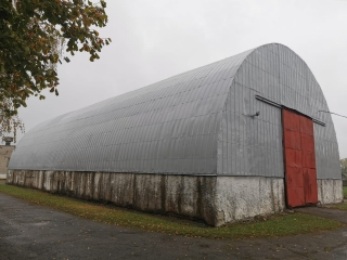 Hangar metal roof waterproofing with Hyperdesmo materials -  1005 m2, Kandava (26 August - 28 September 2020 Years )