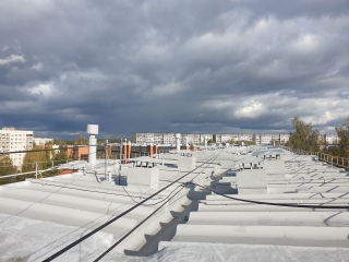 In October 2020, the following roof waterproofing works with a total area of 5462 m2 were completed (see in the garage).
